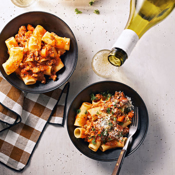 Turkey-and-Mushroom Bolognese recipe