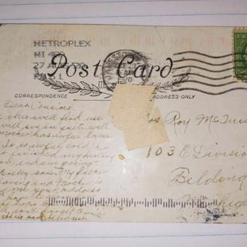 100-year-old postcard