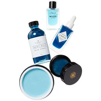 蓝晕美容产品拼贴