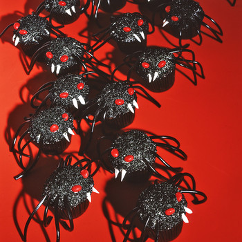creepcake cupcakes spiders
