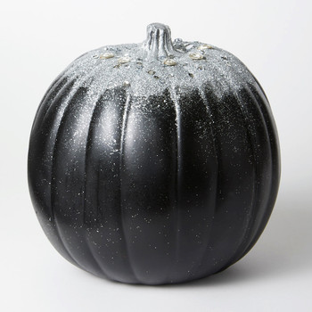 glittered crystal decorated pumpkin