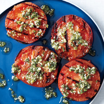 Grilled Tomatoes with Oregano and Lemon