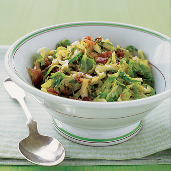 Shredded Brussels Sprouts with Bacon