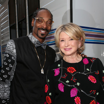 Snoop Dogg and Martha Stewart at the Comedy Central Roast of Justin Bieber.