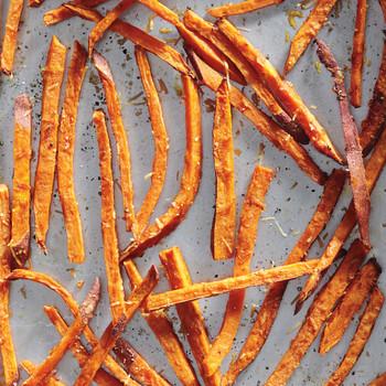 Sweet Potato-Parmesan Fries
