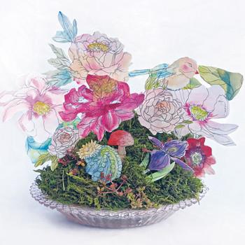 watercolor paper flower arrangement by Kristy Rice