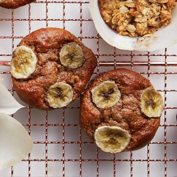 Gluten-Free Banana-Almond Butter Muffins
