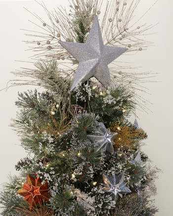 celestial christmas tree star topper
