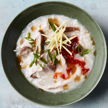 Chicken-and-Mushroom Congee recipe