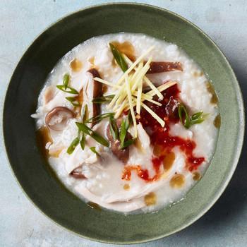 Chicken-and-Mushroom Congee recipe