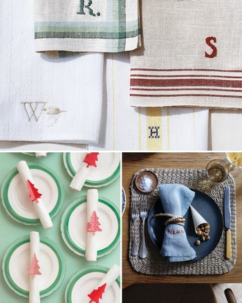Block-Printed Table Linens