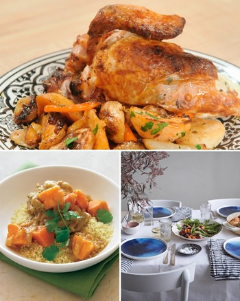 Chicken Breasts with Fennel, Carrots, and Couscous