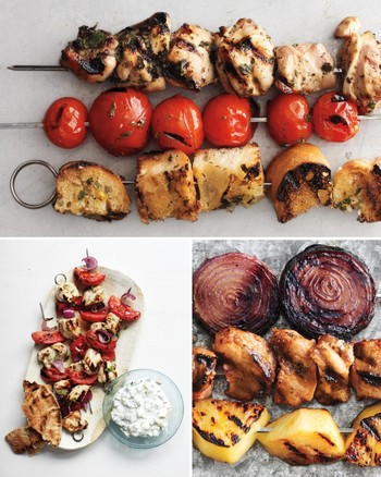 Yogurt-Marinated Swordfish Kebabs