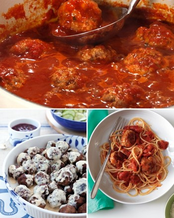 Jerusalem Artichoke Spaghetti with Turkey Meatballs