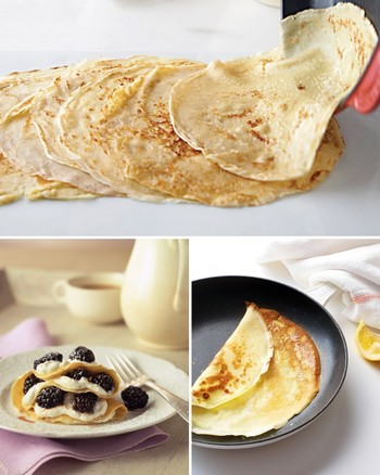Three Versions of French Style Breakfast Crepes