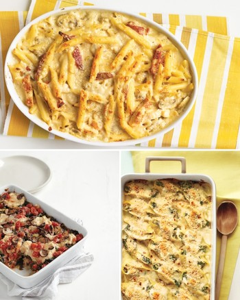 Baked Pasta with Tomato, Cream, and Five Cheeses