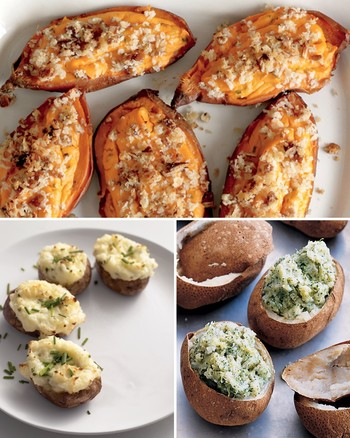 Twice-Baked Potatoes with Greek Yogurt