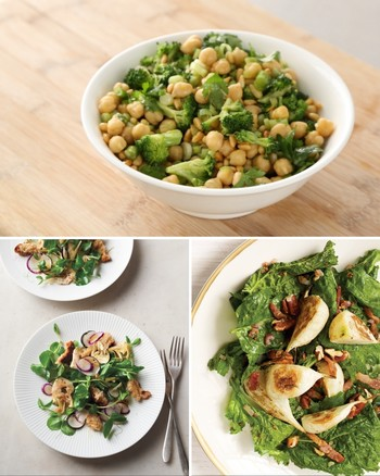 Crispy Broccoli Rabe, Chickpea, and Fresh Ricotta Salad