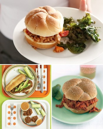Turkey Sloppy Joes with Kale Chips