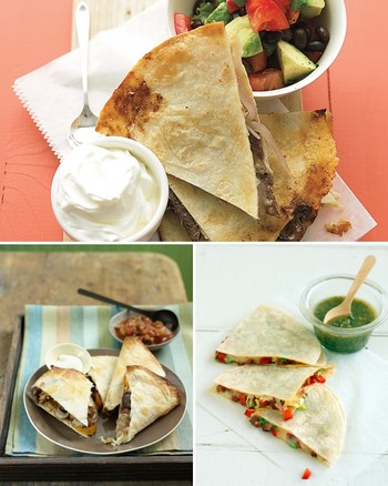 Collard Greens and White Beans Quesadilla