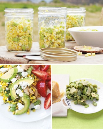 Lemony Zucchini, Chickpea, and Lima Bean Salad
