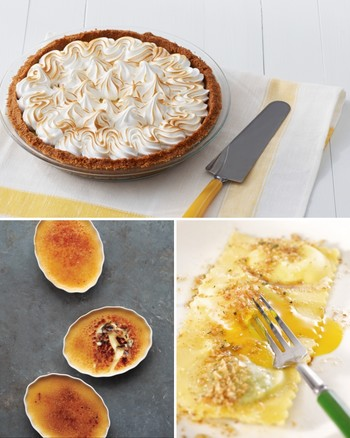 Marbled Lemon Tart with Sage-Cornmeal Crust