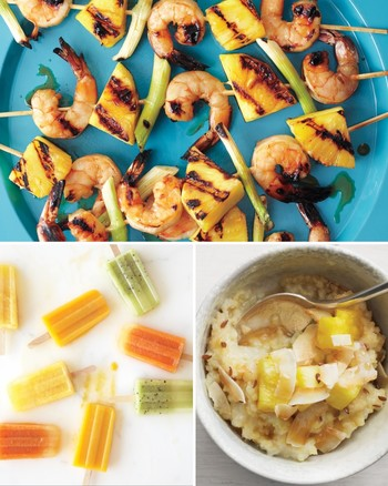 Grilled Shrimp, Tofu, and Pineapple Salad