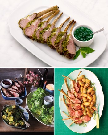Grilled Rack of Lamb with Onion-Mint Jam