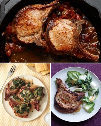 Pork Chops with Herb Stuffing