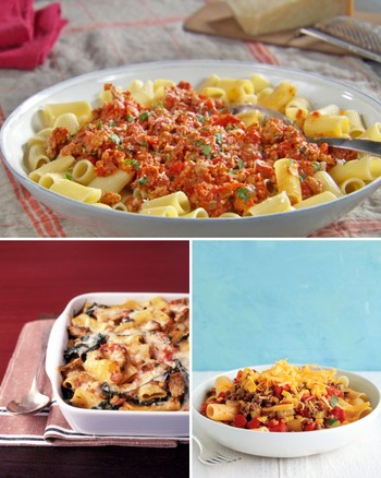 Rigatoni with Tomatoes and Mozzarella
