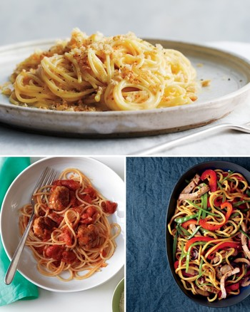 Spaghetti with Three-Tomato Sauce