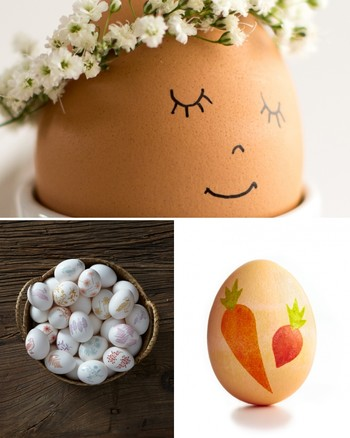 German-Style Paper Cutout Easter Eggs