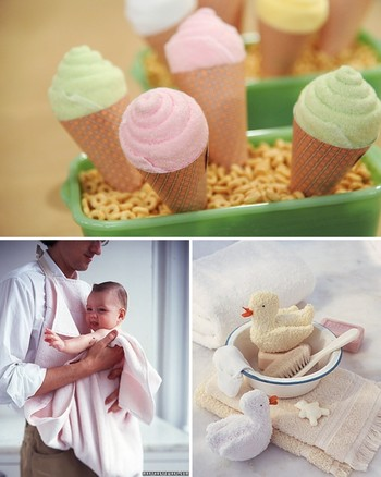 Baby Washcloth Favor Cone