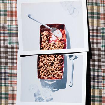 Nectarine-Raspberry Cornmeal Crisp
