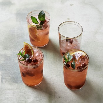 cranberry blood orange spritzer