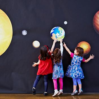 interstellar party kids playing