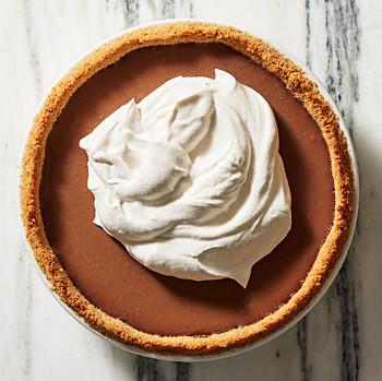 milk-chocolate pudding pie