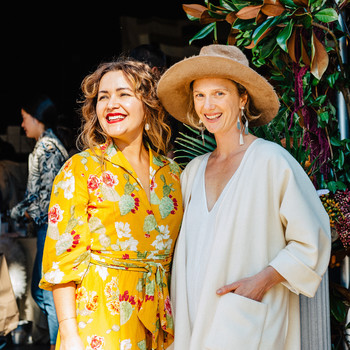 Rachel Craven and Beatrice Valenzuela at the Echo Park Craft Fair