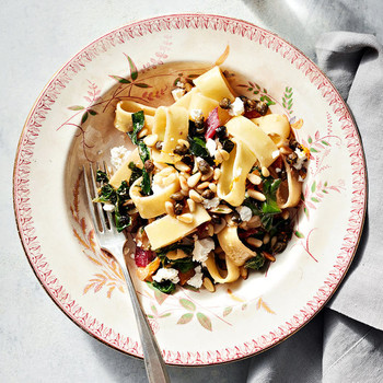 swiss chard and feta pasta