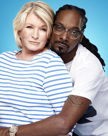 Martha and Snoop in a promotional image for their new show