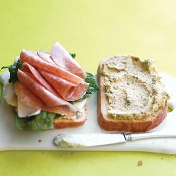 Artichoke and Salami Sandwiches