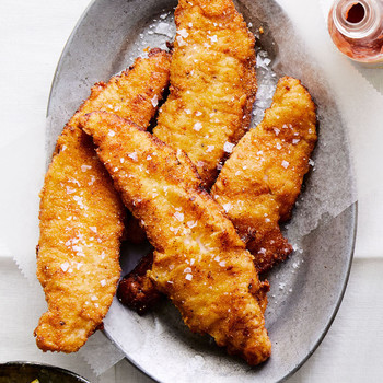 Buttermilk-and-Cornmeal-Fried Catfish on serving plate