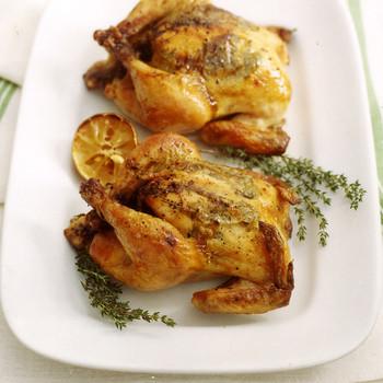 cornish hens lemon herbs