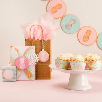 菠萝派对蛋糕杯礼品篮饰品