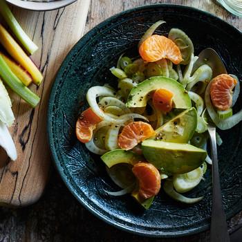 fennel avocado and satsuma salad
