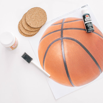 march madness basketball coaster tutorial materials