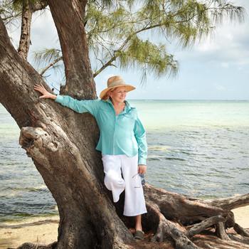 Martha Stewart on an island.