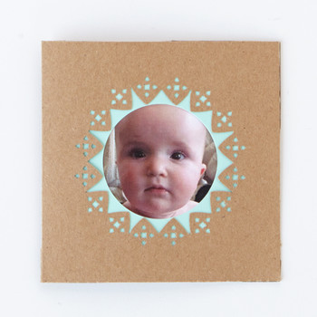 Frame Border Punch Photo Card