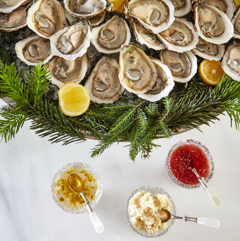 Shucked Oysters with Three Sauces