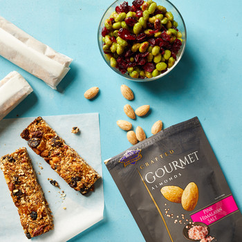 granola bar snacks blue diamonnd pink sea salt almonds edamame cranberry mix